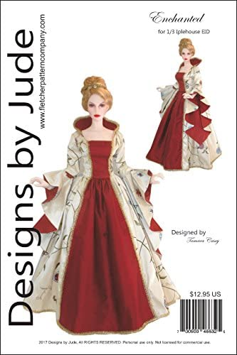 Outlander Claire Dress Doll Clothes Sewing Pattern 65cm Iplehouse 1//3 EID Dolls