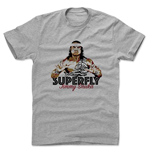 Jimmy Snuka Superfly D Wrestling Mens Cotton T Shirt M Heather Gray