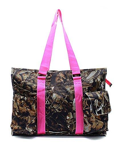 Travel Multipurpose Orange Shopping Utility Bag Canvas Tote Camouflage YvqOOw