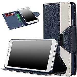 Landee con tapa de piel sintética Cierre Magnético Monedero colour carcasa funda estuche For Samsung Galaxy Note 3 N9000