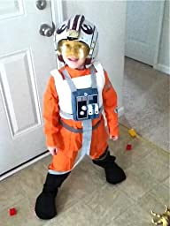 Amazon.com: Star Wars X-Wing Fighter Pilot Child Costume: Toys & Games
