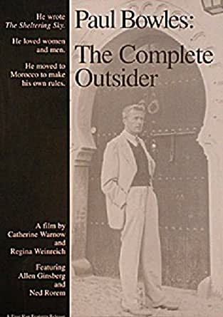 Paul Bowles: The Complete Outsider 1994 Original USA Movie Poster Catherine Warnow Paul Bowles