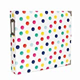American Crafts Becky Higgins Project Life 12'' x 12'' D-Ring Scrapbook Album - Polka Dots