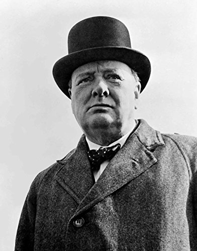 (Posterazzi Digitally restored vector portrait of Sir Winston Churchill Poster Print (12 x 16))