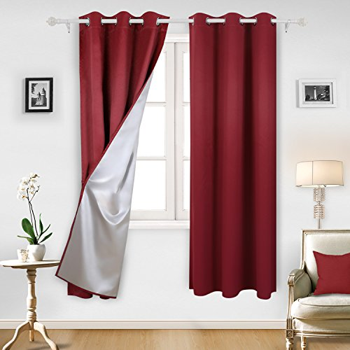 red and black kitchen curtains - 1