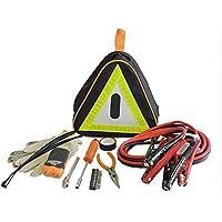 Armor All Roadside Emergency Kit – Reflective Safety Bag - Jumper Cables, Tools, Dynamo LED Light, Tire Pressure Gauge, Assistance