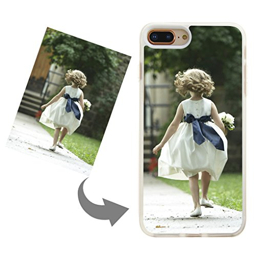 Customize Your Own Phone Case - Personalized Photo,Text,Logo Back Cover Case for iPhone 7 Plus or 8 Plus,Birthday Xmas Valentines Gift for Her and Him