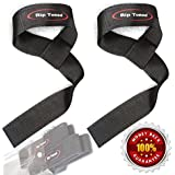 Lifting Wrist Straps by Rip Toned (Pair) - Bonus Ebook - Lifetime Warranty - Cotton Padded - For Weightlifting, Bodybuilding, Crossfit, Strength Training, Powerlifting, MMA