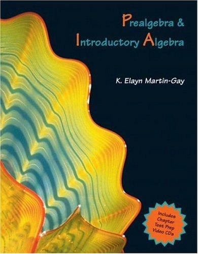 Prealgebra and Introductory Algebra (Martin-Gay Hardback Series)