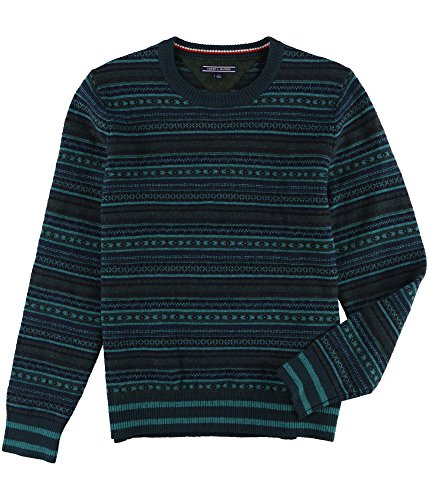 Tommy Hilfiger Mens Striped Pullover Sweater Blue L