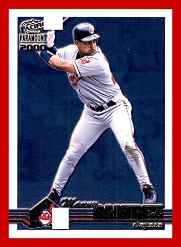 2000 Pacific Paramount Baseball #72 Manny Ramirez CLEVELAND INDIANS