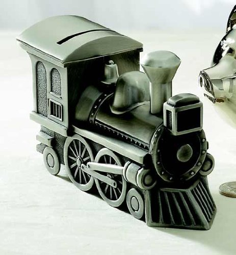 Train Bank, Pewter Finish 2