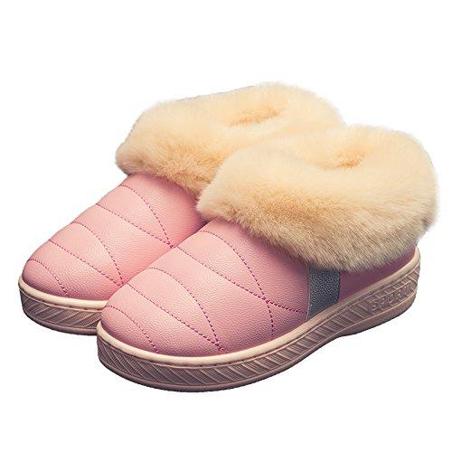 Autunno Inverno uomini e donne paio di pantofole di cotone pacchetto spessa con caldi antiscivolo di rimanere a casa per sedersi sul cotone felpato calzature adatte per 35-36,608 ,36-37 curcuma