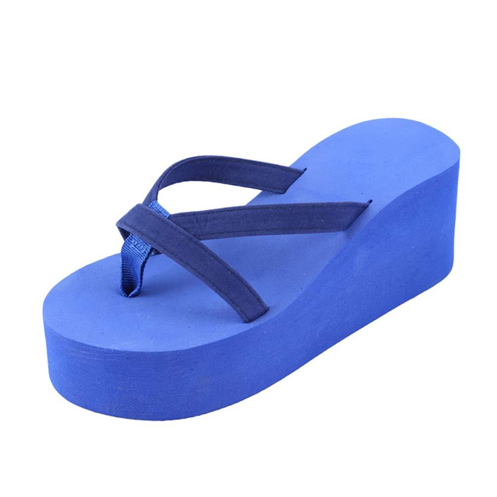 XHCHE Femmes Plage d'été Sandales Wedges Femmes Wedges Slip B00ZP324CO Flip Flops Sandales Sandales Casual Chic féminin Ladies Shoes Bleu fa088b9 - boatplans.space