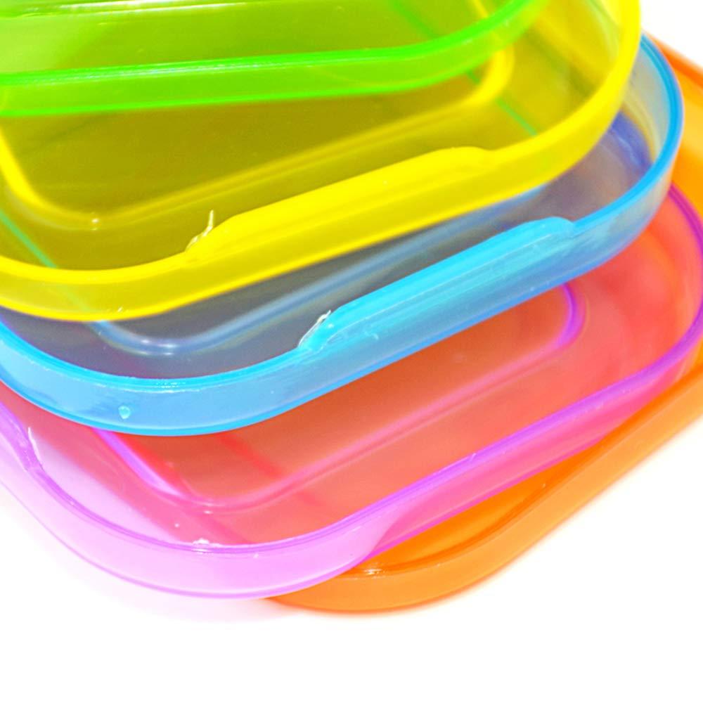 F.lashes Babynahrung Aufbewahrung Beh/älter Einfrieren Babybrei mit Silikondeckel BPA-frei Zugelassen F/ür Baby /& Kinder Von Hmjunboys Frischhaltedosen 4//6 S/ätze