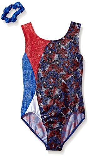 (Jacques Moret Big Girls' Fun Gymnastics Leotard, Funstars Printed, M)
