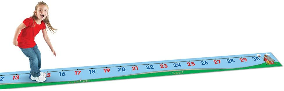 Learning Resources 0-30 Number Line Floor Mat, Blue