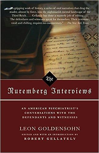 The Nuremberg Interviews: Leon Goldensohne: 8601420106567: Amazon ...