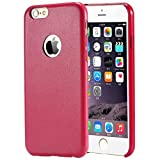 iPhone 6s Plus Case (5.5) Pansy Premium Ultra Thin PU Leather Case [Soft Touch] [Snug Fit] Flexible, Slim and Lightweight Luxury Handcrafted Design (Rose Red)