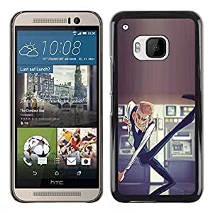 A-type Colorful Printed Hard Protective Back Case Cover Shell Skin for HTC One M9 ( Dancing Casino Man Luck Money Lottery )
