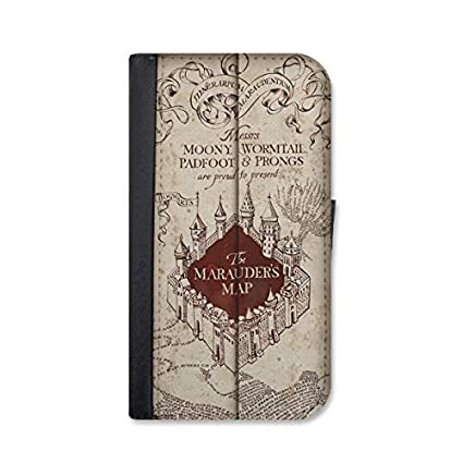 cheaper 7950b d34b1 Harry Potter marauders map inspired iPhone 6 / 6s leather wallet case by  Little Brick Press