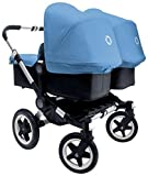 Bugaboo Donkey Complete Twin Stroller-2015-Ice Blue-Aluminum