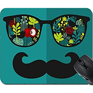 MSD Natural Rubber Mousepad Mouse Pads/Mat design: 27886526 Retro sunglasses with reflection for hipster Vector illustration of accessory glasses isolated Best print for eyeglasses advertisement