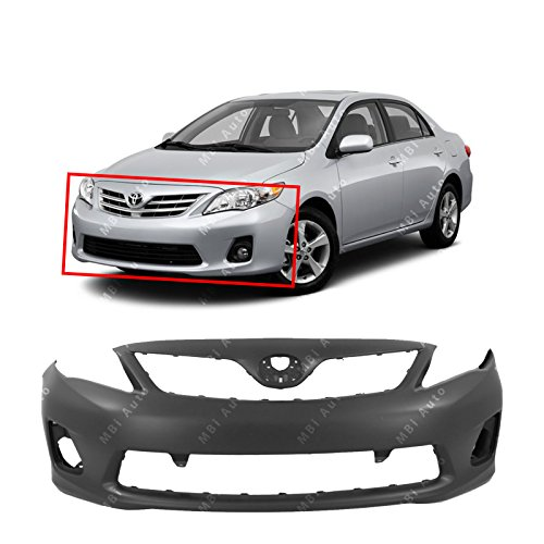MBI AUTO - Primered, Front Bumper Cover Fascia for 2011 2012 2013 Toyota Corolla Sedan 11 12 13, TO1000372