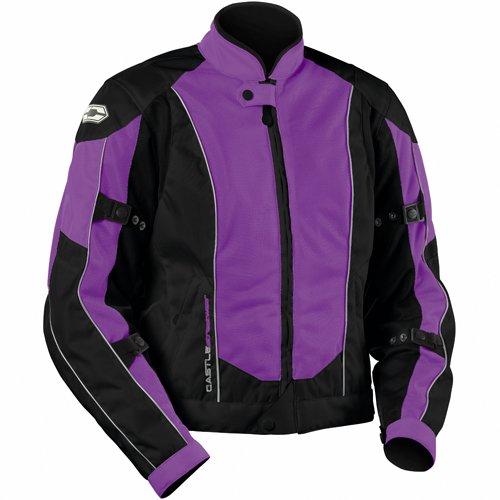 - Castle Streetwear Womens Turbine Motorcycle Jacket - Grape - Size 12