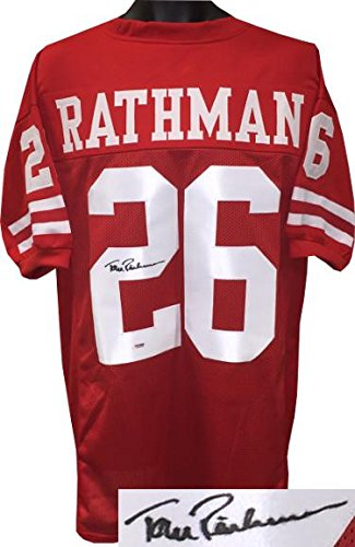 5902912c87f Tom Rathman Autographed Jersey - Nebraska Cornhuskers Red Custom Stitched  College XL Witnessed Hologram #6A74346