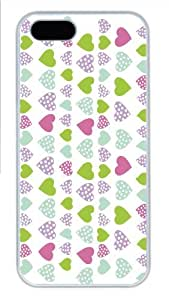 Hot iPhone 5S Customized Unique Print Design Pink Love Design New Fashion PC White iPhone 5/5S Cases