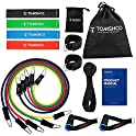 Tomshoo 17-Piece Resistance Bands Set for Stretch Training