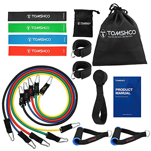 TOMSHOO 17PC Resistance Bands Set, Workout Band...
