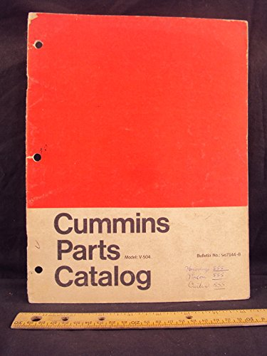 Cummins Diesel Engine V 504 Parts Book Catalog