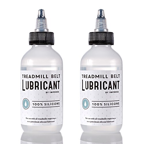 (2 Pack of 100% Silicone Treadmill Belt Lubricant / Lube - Easy to Apply Lubrication - Made in the USA)