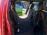 JMM Pet Care Pet Seat Cover & Dog Car Hammock - Dog Car Seat Covers - Pet Cover For Car Back Seat - Black, Durable Waterproof & Non-Slip