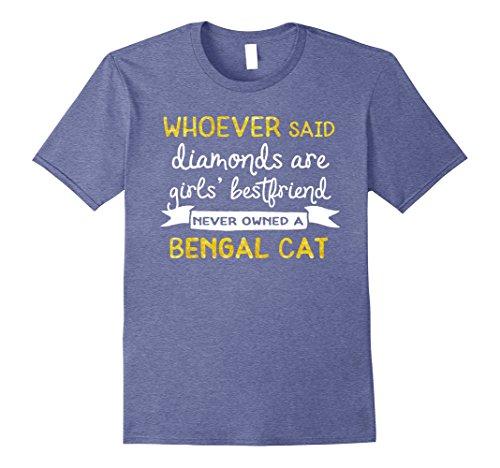 Mens Inspirational Bengal Cat Breed T Shirt Large Heather Blue