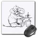 3dRose Taiche - Illustration - Elephant - Elephant Caricature- elephant, cute, wine, age
