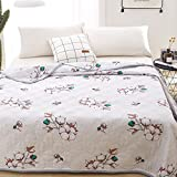 """KFZ Quilt Comforter Cotton Bedspread for Bedding Set Breathable Ultrasound Quilted Quilt HDD Twin Full Queen Popular Cartoon Design for Adults Kids Baby 1pc (Sunny Flower,Pink, Twin, 59""""x79"""")"""
