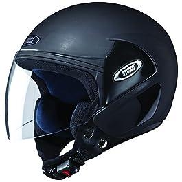 Studds Cub SUS_COFH_MBLKL Open Face Helmet (Matt Black, L)