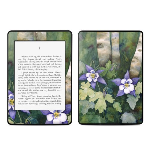 Colorado Columbines Design - Colorado Columbines Design Protective Decal Skin Sticker for Amazon Kindle Paperwhite eBook Reader (2-point Multi-touch)