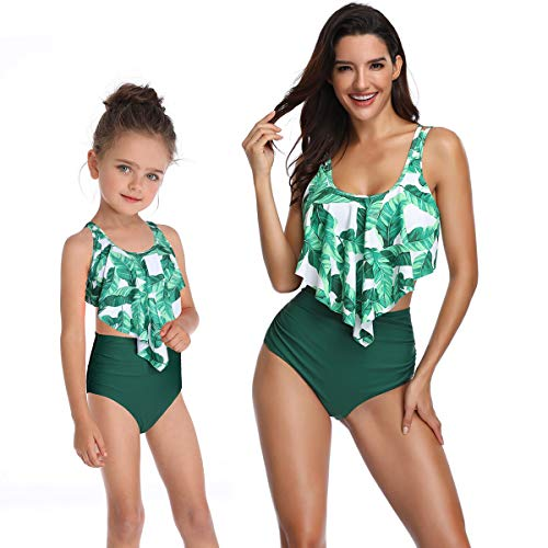 5d7644c3913 Kokowaii Fancy Mother and Daughter Swimwear Family Matching Swimsuit Girls  Swimwear