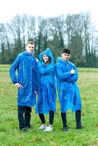Extra Thick Disposable Emergency Rain Ponchos ~ Premium Quality, Lightweight, Waterproof & Tear Resistant ~ For Hiking, Tours, Sightseeing, Theme Parks, Festivals & More by KeepDry! by KeepDry! (Image #5)