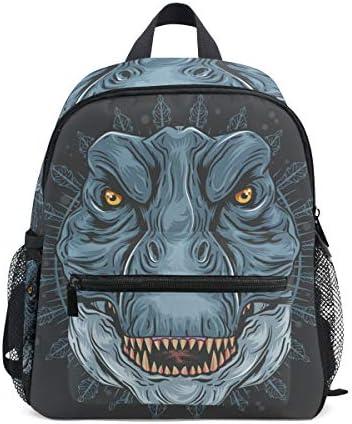 アングリーブルーダイナソードラゴン幼児就学前のバックパック本袋ミニショルダーバッグリュックサック通学用1-6年旅行男の子女の子