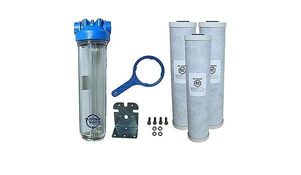 KleenWater premier4520cl cloro toda la casa filtro de agua sistema ...