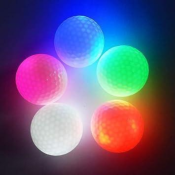 Esoes - Pelotas de Golf con luz LED, 2 Unidades, Ideal para Golf ...