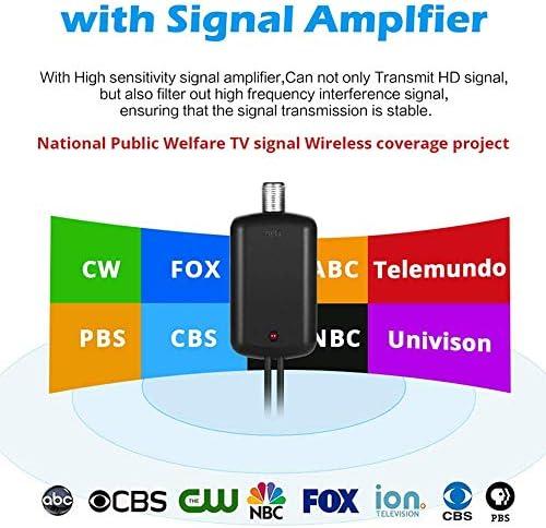 Antena de TV Profesional-Antena de HDTV Digital para Interiores Amplificada Alcance de 120 Millas 4K HD Canales Locales Emisión para Todo Tipo de televisión Inteligente para el hogarArten: Amazon.es: Electrónica
