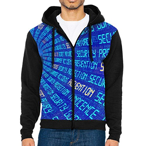 c7f4c1de950ce Secure Tunnel Data Center Casual Zipper Long Sleeve Hoodie Pocket  Sweatshirt Coat Jacket For Men Teens Sports