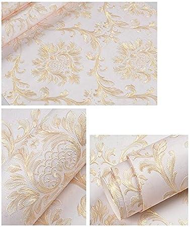 Yosot Fond D/Écran 3D Damas Fond D/Écran Salon Et Chambre Papier Peint Fond D/Écran Rose
