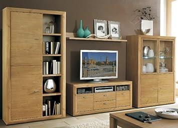 Wohnwand selber zusammenstellen  Valencia Wohnzimmer Schrankwand wildeiche selber zusammenstellen ...